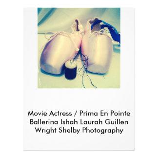 Flyer Fotografia de Laura Guillen aka Ishah da atriz do