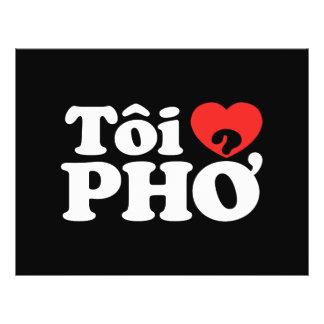 Flyer Mim língua vietnamiana de Pho do coração (amor) (❤