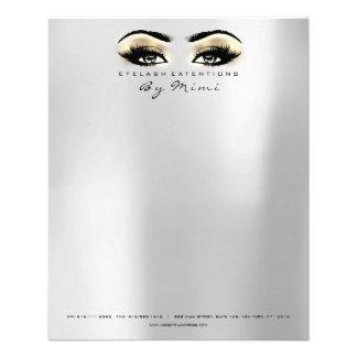 Flyer O estúdio da beleza chicoteia o ouro de prata dos