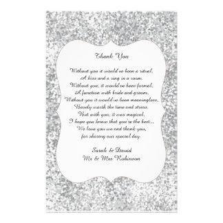 Flyer O obrigado de prata do poema do casamento do