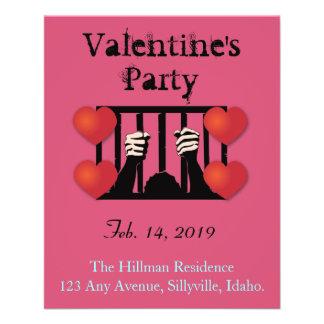 Flyer Prisioneiro do partido do dia dos namorados