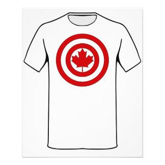 Flyer Símbolo do protetor do capitão Canadá