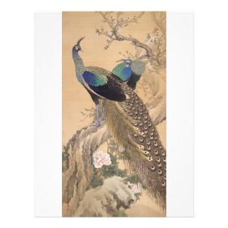 Flyer Um par de pavões no primavera por Imao Keinen