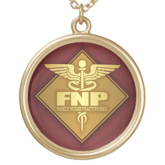FNP (ouro) (diamante) Colar Banhado A Ouro