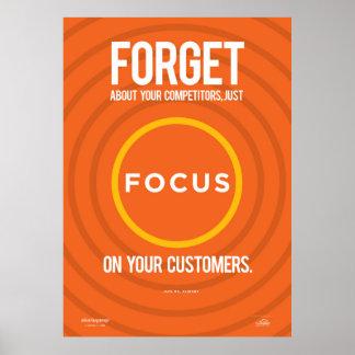 Foco em seus clientes poster