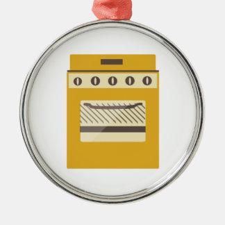Fogão de cozinha ornamento redondo cor prata