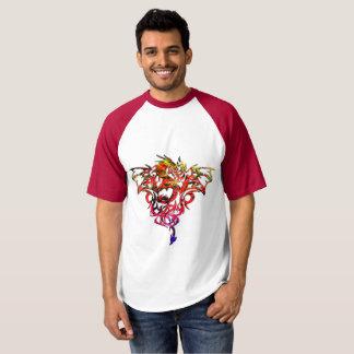 Fogo abstrato que respira o dragão tribal camiseta
