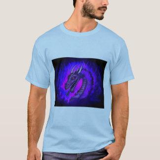 Fogo azul do dragão camiseta