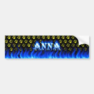 Fogo de Anna e projeto azuis do autocolante no Adesivo Para Carro