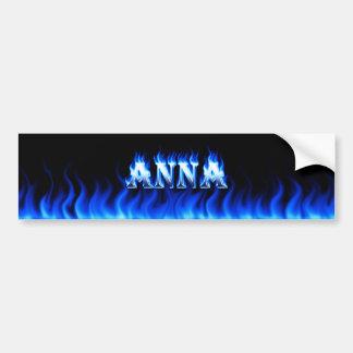 Fogo de Anna e projeto azuis do autocolante no vid Adesivo Para Carro