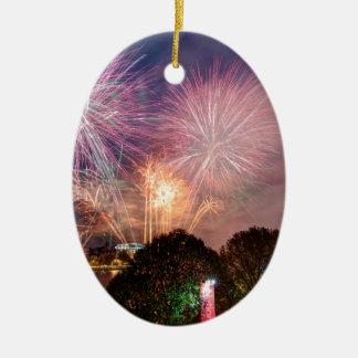 Fogo-de-artifício do senhor Mayor, Southbank Ornamento De Cerâmica Oval