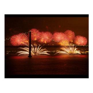Fogo-de-artifício Lisboa do ano novo Cartoes Postais