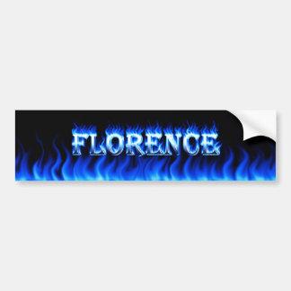 Fogo de Florença e desig azuis do autocolante no Adesivo Para Carro