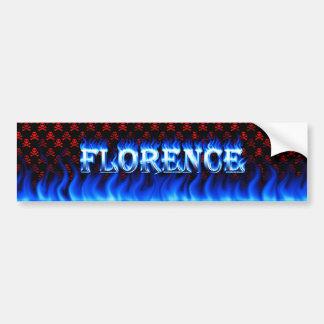 Fogo de Florença e desig azuis do autocolante no v Adesivo Para Carro