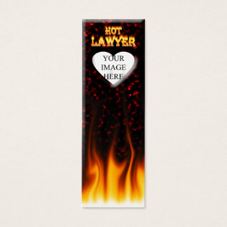 Fogo do advogado e mármore quentes do vermelho das cartão de visitas mini
