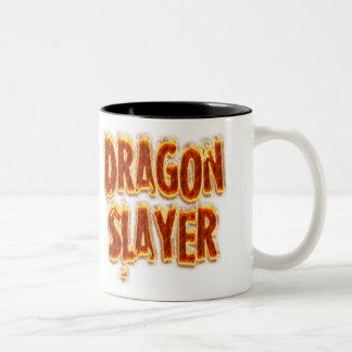 Fogo do assassino do dragão caneca dois tons