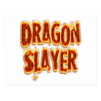 Fogo do assassino do dragão cartão postal