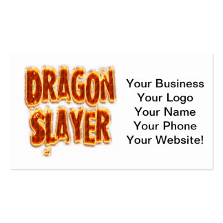 Fogo do assassino do dragão cartão de visita