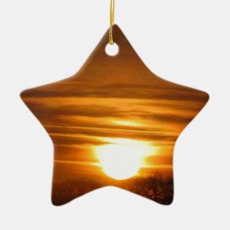 Fogo do céu ornamento de cerâmica estrela