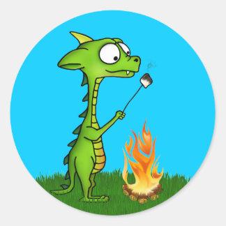 Fogo do dragão adesivo