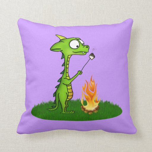 Fogo do dragão travesseiro de decoração