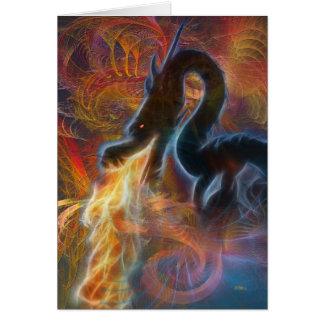 Fogo do dragão cartão comemorativo