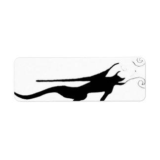 Fogo do dragão etiqueta endereço de retorno