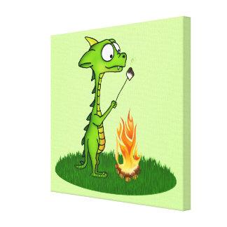 Fogo do dragão impressão de canvas envolvida