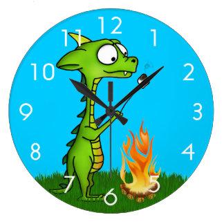 Fogo do dragão relógios de pendurar