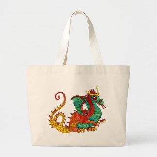 Fogo do dragão sacola tote jumbo