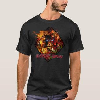 FOGO do leão da reggae Tshirt