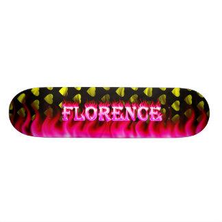 Fogo do rosa do skate de Florença e design das cha