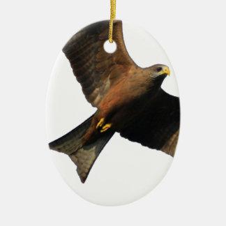 Fogo Eagle Ornamento De Cerâmica Oval