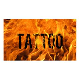 Fogo flamejante original do artista do tatuagem cartão de visita