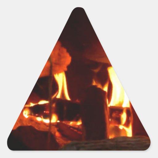 FOGO: Lareira da lareira Adesivos Triângulo
