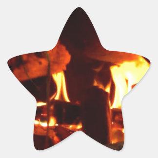FOGO: Lareira da lareira Adesivo Em Forma De Estrela