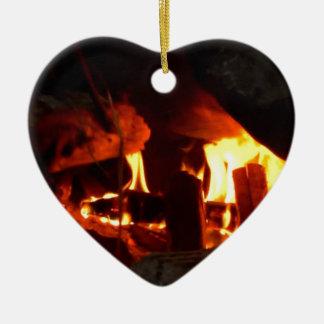 FOGO: Lareira da lareira Ornamento De Cerâmica Coração