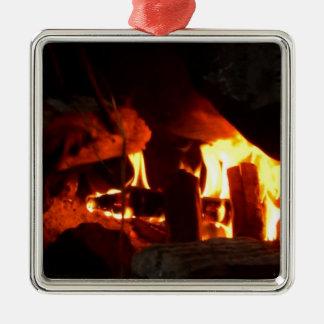 FOGO: Lareira da lareira Ornamento Quadrado Cor Prata