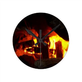 FOGO: Lareira da lareira Relógio De Parede