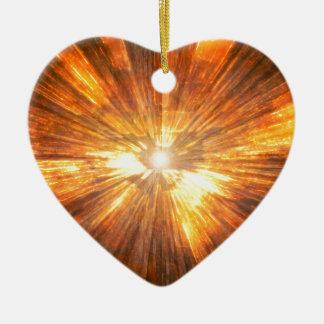 Fogo Ornamento De Cerâmica Coração