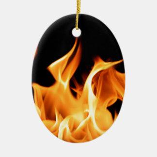 Fogo Ornamento De Cerâmica Oval