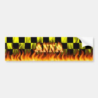 Fogo real de Anna e projeto do autocolante no vidr Adesivo Para Carro
