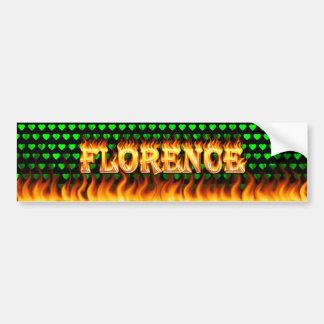 Fogo real de Florença e desig do autocolante no vi Adesivo Para Carro