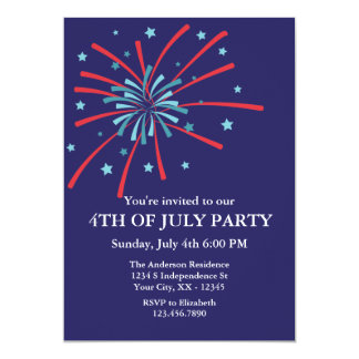 Fogos-de-artifício 4ns do convite de festas de