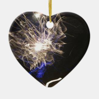 Fogos-de-artifício 5 ornamento de cerâmica coração
