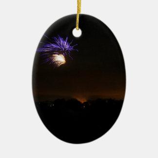 Fogos-de-artifício Ornamento De Cerâmica Oval