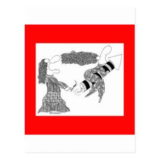 foguete cartão postal