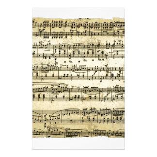 Folha antiga da contagem da música papelaria