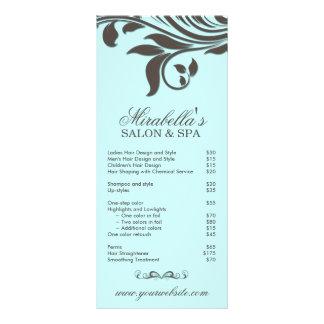Folha Brown azul floral dos termas do cartão da cr 10.16 X 22.86cm Panfleto