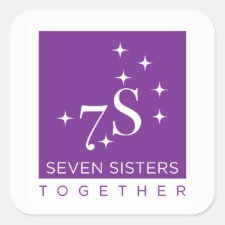 Folha da etiqueta de sete irmãs junto - 6